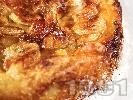 Рецепта Домашен бананов кекс с бутер тесто и прясно мляко